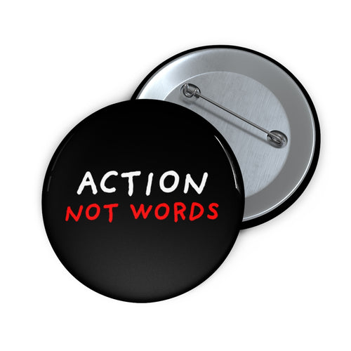 Action Not Words | Black | Pin Buttons-pin buttons-2