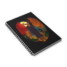 Load image into Gallery viewer, Deer Creature at Night | Black | Spiral Notebook 80 pages-80 pages notebook-Eggenland