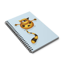 Load image into Gallery viewer, Fat Cat | Blue | Spiral Notebook 80 pages-80 pages notebook-Eggenland