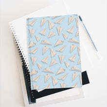 Load image into Gallery viewer, Paper Planes Pattern | Blue | Journal - Blank-journals-Journal-Eggenland