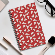 Load image into Gallery viewer, Paper Planes Pattern | Red | Spiral Notebook 80 pages-80 pages notebook-Eggenland