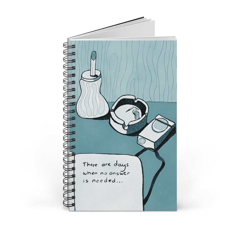 No Answer | Blue | Spiral Notebook 80 pages-80 pages notebook-Blank-Spiral Notebook-Eggenland