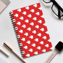 Load image into Gallery viewer, Cute Cat Pattern | Red | Spiral Notebook 80 pages-80 pages notebook-Eggenland