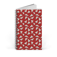 Load image into Gallery viewer, Paper Planes Pattern | Red | Spiral Notebook 80 pages-80 pages notebook-Blank-Spiral Notebook-Eggenland