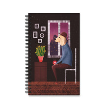 Load image into Gallery viewer, Charlie Waiting For Love | Spiral Notebook 80 pages-80 pages notebook-Eggenland