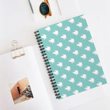 Load image into Gallery viewer, Cute Cat Pattern | Blue | Lined Spiral Notebook 118 Pages-118 pages notebook-Spiral Notebook-Eggenland