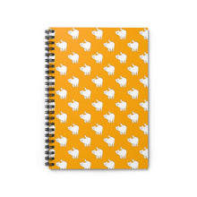 Load image into Gallery viewer, Cute Cat Pattern | Orange | Lined Spiral Notebook 118 Pages-118 pages notebook-Spiral Notebook-Eggenland