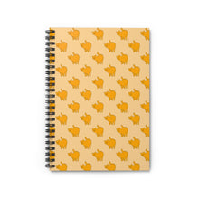 Load image into Gallery viewer, Yellow Cat Pattern | Cream | Lined Spiral Notebook 118 Pages-118 pages notebook-Spiral Notebook-Eggenland