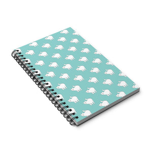 Cute Cat Pattern | Blue | Spiral Notebook 80 pages-80 pages notebook-Eggenland