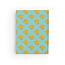 Load image into Gallery viewer, Yellow Cat Pattern | Blue | Journal - Blank-journals-Journal-Eggenland