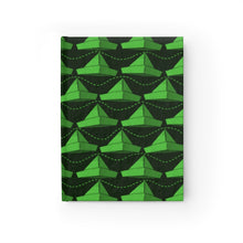 Load image into Gallery viewer, Paper Hats Pattern | Green Black | Journal - Blank-journals-Journal-Eggenland