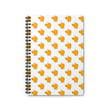 Load image into Gallery viewer, Yellow Cat Pattern | Lined Spiral Notebook 118 Pages-118 pages notebook-Spiral Notebook-Eggenland