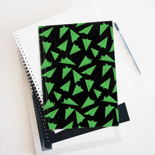 Load image into Gallery viewer, Paper Planes Pattern | Black Green | Journal - Blank-journals-Journal-Eggenland