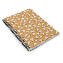 Load image into Gallery viewer, Paper Planes Pattern | Cream | Lined Spiral Notebook 118 Pages-118 pages notebook-Spiral Notebook-Eggenland