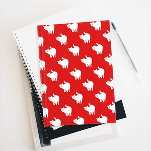 Cute Cat Pattern | Red | Journal - Blank-journals-Journal-Eggenland