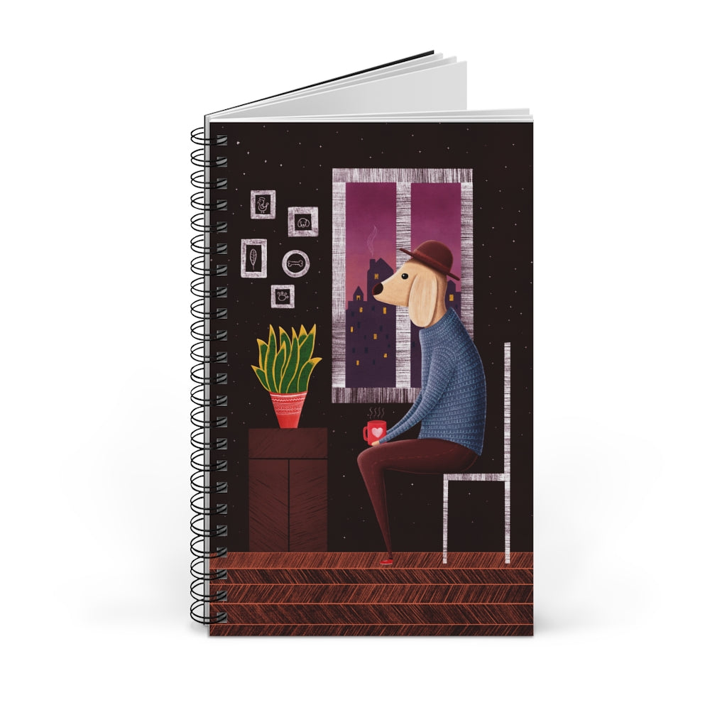 Charlie Waiting For Love | Spiral Notebook 80 pages-80 pages notebook-Blank-Spiral Notebook-Eggenland