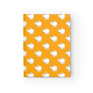 Cute Cat Pattern | Yellow | Journal - Blank-journals-Journal-Eggenland