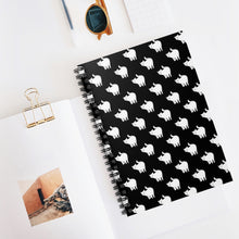 Load image into Gallery viewer, Cute Cat Pattern | Black and White | Lined Spiral Notebook 118 Pages-118 pages notebook-Spiral Notebook-Eggenland