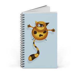 Fat Cat | Blue | Spiral Notebook 80 pages-80 pages notebook-Blank-Spiral Notebook-Eggenland