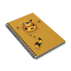 Fat Cat | Golden | Spiral Notebook 80 pages-80 pages notebook-Eggenland