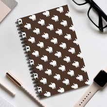 Load image into Gallery viewer, Cute Cat Pattern | Brown | Spiral Notebook 80 pages-80 pages notebook-Eggenland