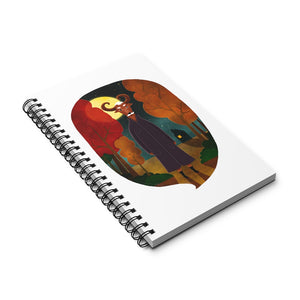 Deer Creature at Night | Spiral Notebook 80 pages-80 pages notebook-Eggenland