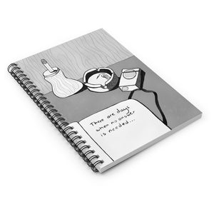 No Answer | Lined Spiral Notebook 118 Pages-118 pages notebook-Spiral Notebook-Eggenland
