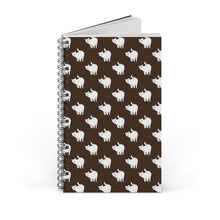 Load image into Gallery viewer, Cute Cat Pattern | Brown | Spiral Notebook 80 pages-80 pages notebook-Blank-Spiral Notebook-Eggenland