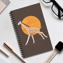 Load image into Gallery viewer, Giraffe and Sun | Brown | Spiral Notebook 80 pages-80 pages notebook-Eggenland