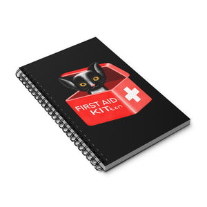 FIRST AID KITten | Black | Spiral Notebook 80 pages-80 pages notebook-Eggenland