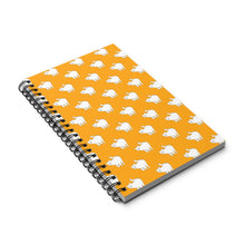 Load image into Gallery viewer, Cute Cat Pattern | Yellow | Spiral Notebook 80 pages-80 pages notebook-Eggenland