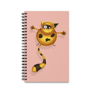 Fat Cat | Pink | Spiral Notebook 80 pages-80 pages notebook-Eggenland