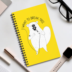 "Beaver singing ""I Want To Break Free"" 