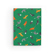 Load image into Gallery viewer, Funky Cats Pattern | Green | Journal - Blank-journals-Journal-Eggenland