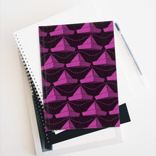 Load image into Gallery viewer, Paper Hats Pattern | Pink Black | Journal - Blank-journals-Journal-Eggenland