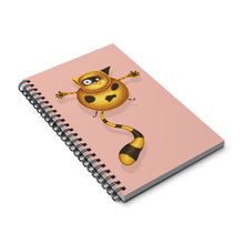 Load image into Gallery viewer, Fat Cat | Pink | Spiral Notebook 80 pages-80 pages notebook-Eggenland