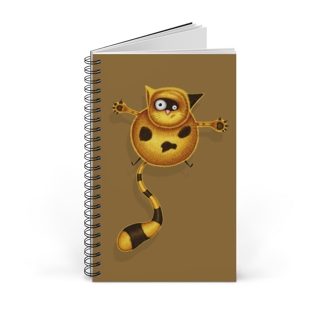 Fat Cat | Brown | Spiral Notebook 80 pages-80 pages notebook-Blank-Spiral Notebook-Eggenland