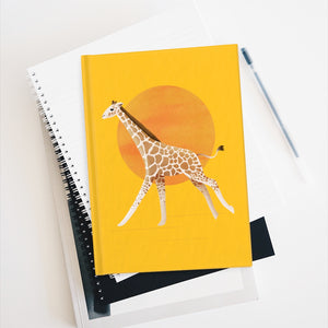 Giraffe and Sun | Yellow | Journal - Blank-blank journals-Journal-Eggenland