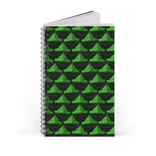 Load image into Gallery viewer, Paper Hats Pattern | Black Green | Spiral Notebook 80 pages-80 pages notebook-Eggenland