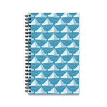 Load image into Gallery viewer, Paper Hats Pattern | Blue | Spiral Notebook 80 pages-80 pages notebook-Eggenland