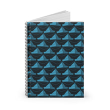 Load image into Gallery viewer, Paper Hats Pattern | Blue | Lined Spiral Notebook 118 Pages-118 pages notebook-Spiral Notebook-Eggenland