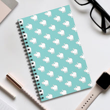 Load image into Gallery viewer, Cute Cat Pattern | Blue | Spiral Notebook 80 pages-80 pages notebook-Eggenland