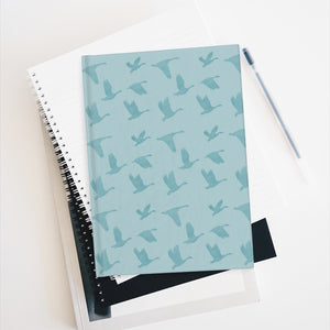 Flying Birds Pattern | Blue | Journal - Blank-journals-Journal-Eggenland