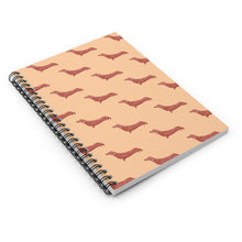 Load image into Gallery viewer, Cute Dachshund Dog | Cream | Lined Spiral Notebook 118 Pages-118 pages notebook-Spiral Notebook-Eggenland
