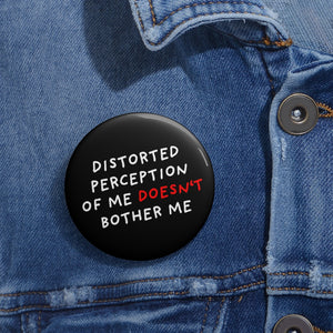 Distorted Perception | Black | Pin Buttons-pin buttons-Eggenland