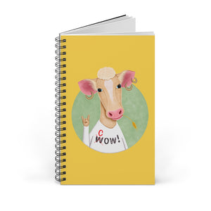 Wow Cow | Yellow | Spiral Notebook 80 pages-80 pages notebook-Blank-Spiral Notebook-Eggenland