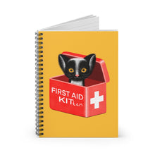 Load image into Gallery viewer, FIRST AID KITten | Yellow | Lined Spiral Notebook 118 Pages-118 pages notebook-Spiral Notebook-Eggenland