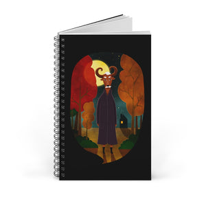 Deer Creature at Night | Black | Spiral Notebook 80 pages-80 pages notebook-Blank-Spiral Notebook-Eggenland