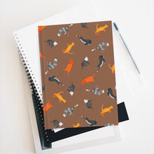 Load image into Gallery viewer, Funky Cats Pattern | Brown | Journal - Blank-journals-Journal-Eggenland