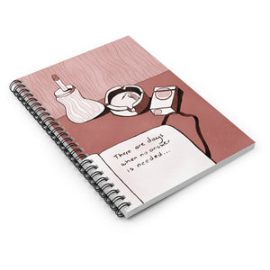 No Answer | Red | Lined Spiral Notebook 118 Pages-118 pages notebook-Spiral Notebook-Eggenland